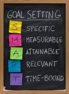 Smart Goals written on chalkboard